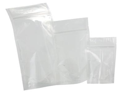 50 Stand Up Pouch 12x14.75x5 inch Clear Front Resealable ZipLock SUP Mylar Bag